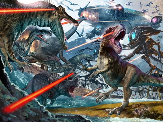 Image result for dinosaurs vs aliens